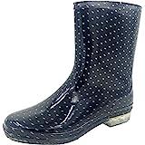 KSB Ladies Short Spotty/Dots Print Wellies Wellington Boots