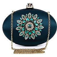 BAIGIO Pochette Donna Elegante Verde Clutch Cerimonia Vintage Borsetta da Sera Borsa per Matrimonio Sposa Party in Seta…