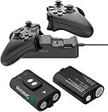 Smatree Station de Recharge Double avec 2 Batteries Rechargeables pour Xbox One Manette/Xbox Elite/Xbox One S/Xbox One X…