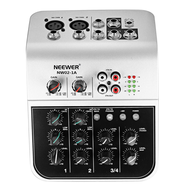 Neewer Console de Mixage Économique Micro à Condensateur, Mélangeur Audio Compact