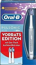 Oral-B Pulsonic Slim Elektrische Schallzahnbürste, mit Timer und drei Pulsonic Aufsteckbürsten, weiß