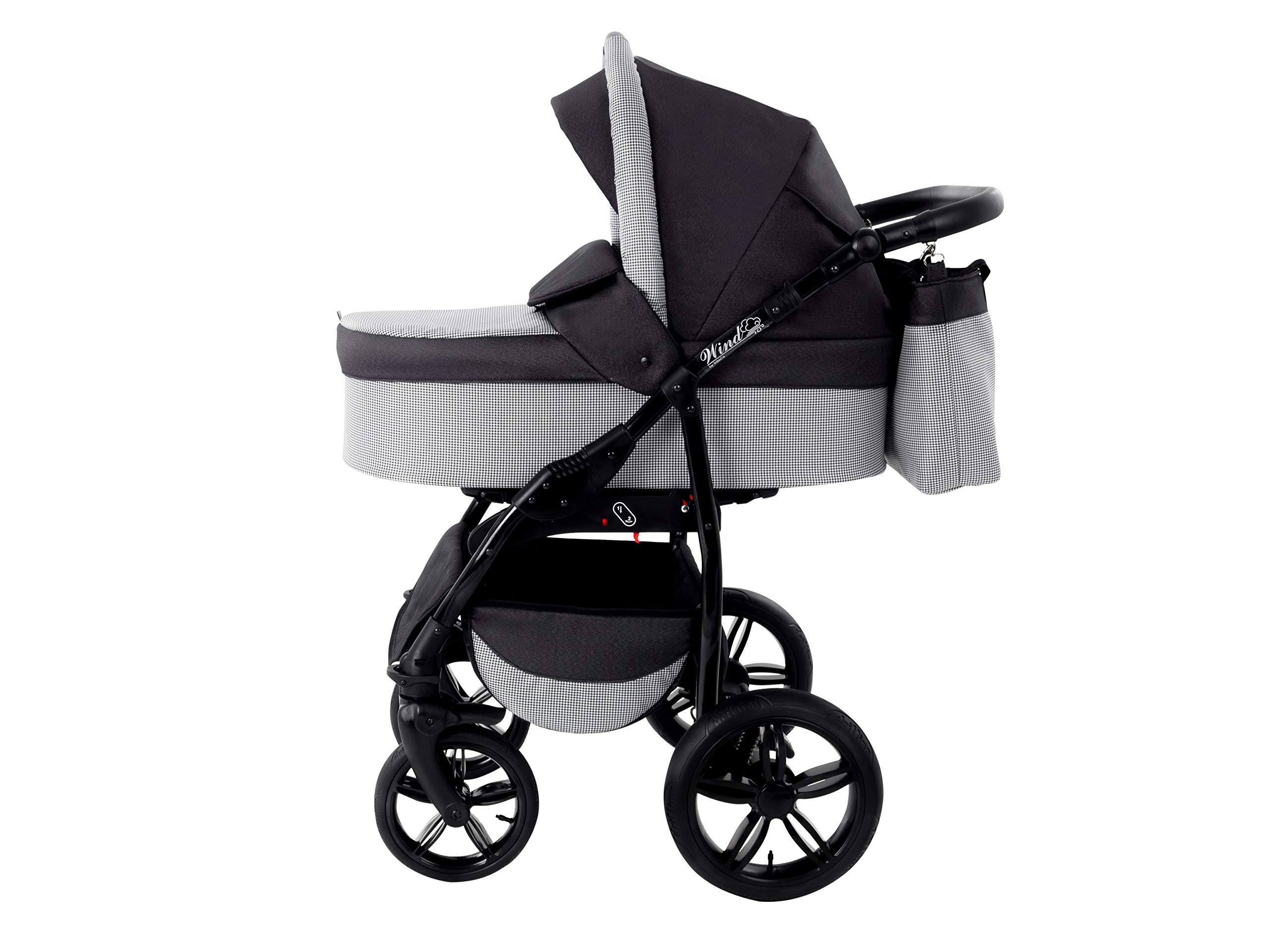 Baby Pram Zeo Wind 3in1 Set - All You Need! carrycot Gondola Buggy Sport Part Pushchair car seat (54) Zeo 3 in 1 combination stroller complete set, with reversible seat units to the buggy, child car seat or baby carriage The baby carriage is suitable for babies from 0 months to 3 years (0-15 kg) Has 360 ° swiveling wheels, four-fold suspension, four-stage backrest, five-position adjustable footrest and a five-point safety belt 4