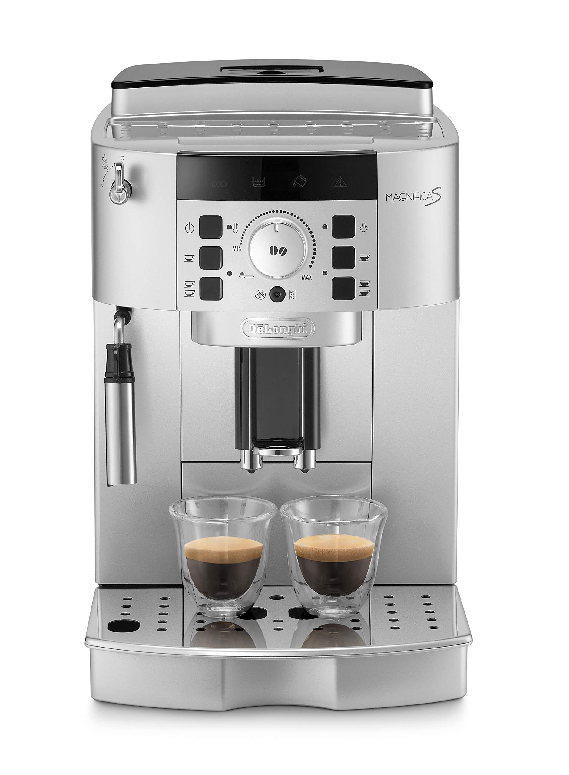 De'Longhi ECAM 22.110.SB Kaffeevollautomat mit Milchaufschäumdüse, silber/schwarz