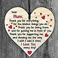 Resmoni - Placa de Madera con Texto en inglés I Love You Mum (Texto en inglés)