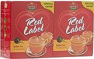 Brooke Bond Red Label Black Loose Tea, 2 X 375 gm