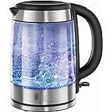 Russell Hobbs Glass Waterkoker van Glas, (1,7L) Snelkookfunctie, Extra Zuinig, Gemakkelijk Reinigbaar, 2200 Watt, 21600-57