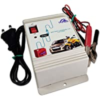 SkyTech Battery Charger 2A12V - Fully Automatic,Copper Transformer for Car, Bike