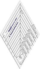 "60 DEGREE DIAMOND QUILTING RULER (4.5"")"