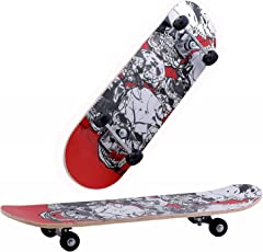 Fantasy India Wooden Assorted Design Skate Board for Age Group 5-10Yrs 24x6-inches