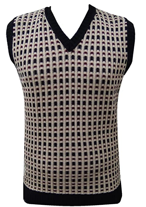 1920s Mens Sweaters, Pullovers, Cardigans London Knitwear Gallery Retro Vintage Knitwear Tanktop Sleeveless Golf Sweater �16.99 AT vintagedancer.com