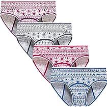 Hahan Teens Cotton Period Panties Girls Leak Proof Hipster Menstrual Panties Women Postpartum Briefs