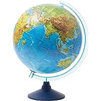 Idena 21426 - Interaktiver Leuchtglobus, mit Relief-Oberfläche, spannende Weltreise mit der IQ Globe-App, ca. 32 cm, mit…