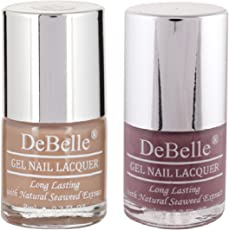 DeBelle Nail Polish Combo Set of 2 (Light Brown & Mauve)