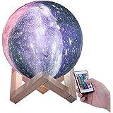 ENCOFT Lampe Lune 3D Moon Light 3D Veilleuse Tactile USB Rechargeable Lune pour Chambre Salon Café Cadeau Anniversaire Noël (