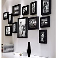 Art Street Nebula Photo Frame Set of 12 Individual Wall Photo Frames - Black(4X6-7 Unit, 6X8-4 Units, 8X10- I Unit)