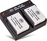 BM Premium 2-Pack of LP-E8, LPE8 Batteries and Dual Battery Charger Kit for Canon EOS Rebel T2i, T3i, T4i, T5i, EOS 550D, EOS