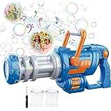 Máquina de Burbujas para Niños,Pistola Pompas Jabón,Mecanismo de Soplado CAMFUN con Música y Luz para niños o Mascotas,Pistol