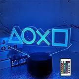 3D Illusion Veilleuse, LED Table Desk Lamps, 16 Couleurs USB Charge Éclairage Décoration de Chambre pour Enfants Noël Hallowe