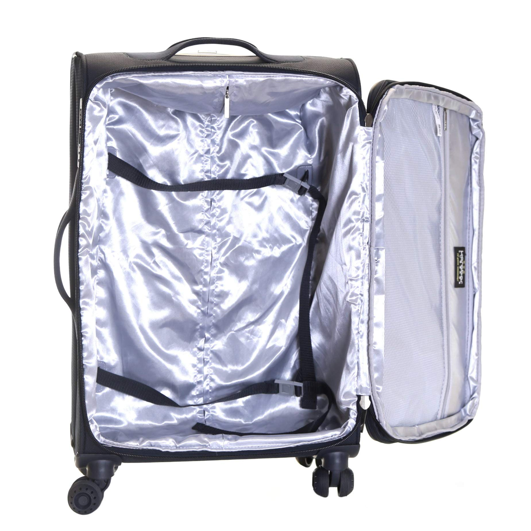 777a7a6f77c7 Karabar Expandable Lightweight Suitcases Luggage Bags Small Carry-on Cabin,  Medium and Large Soft Shell Sets with 4 Spinner Wheels and Integrated TSA  ...