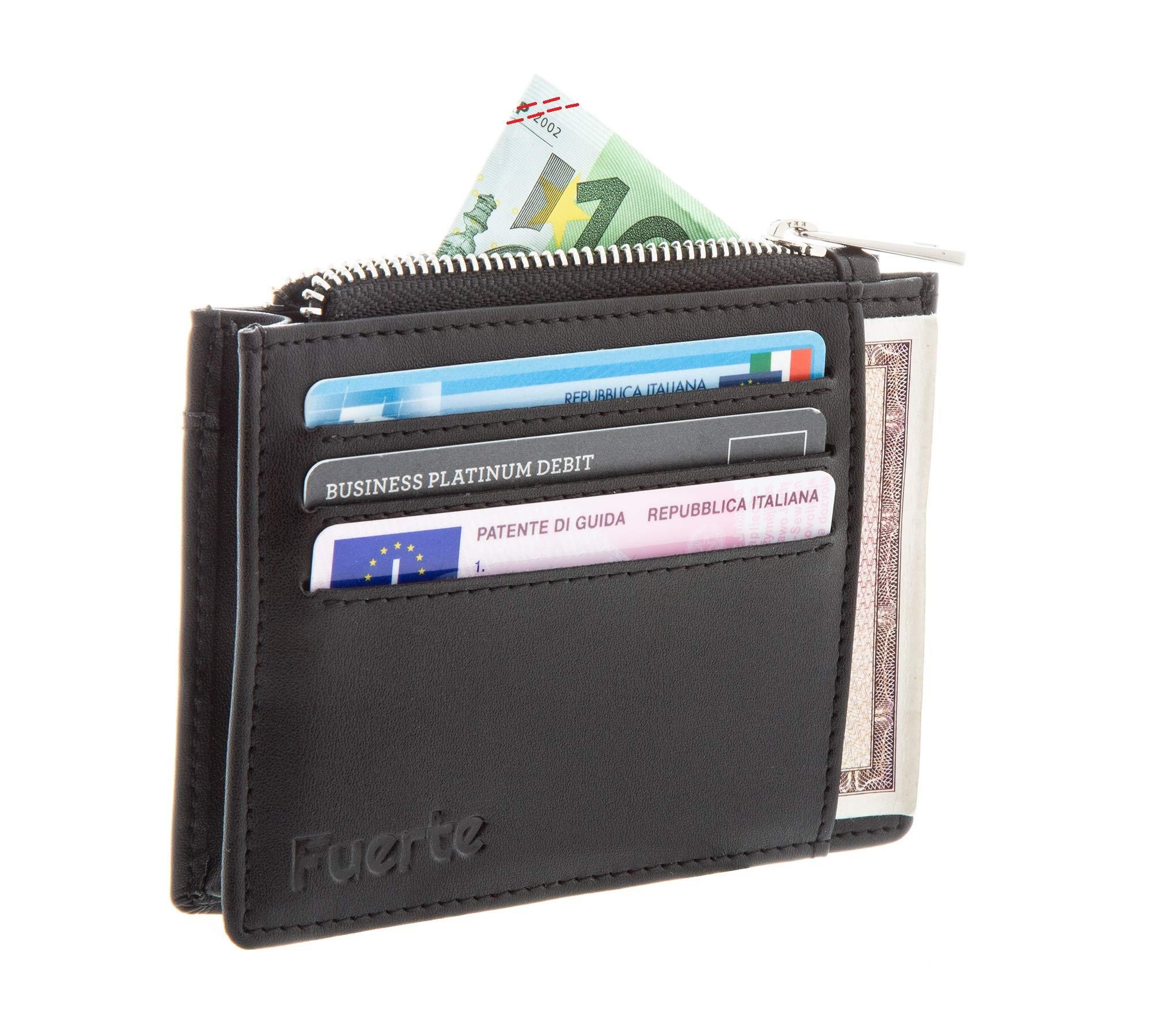 298fd684a3 Portafoglio, FUERTE CARD, Porta Carte di Credito con Protezione Rfid ...