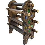 ITOS365 Handmade Wooden Bangle Holder Jewellery Stand for Women Carving -12 Inches