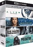 Cultes : Alien + Braveheart + Piège de Cristal + Predator [4K Ultra Blu-Ray + Digital HD]