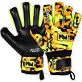 CONNECT Goalkeeper/Goalie Gloves Extreme Grip for Kids, Youth & Adult, With Finger Support/ Spines, Soccer Gloves for Boys, G