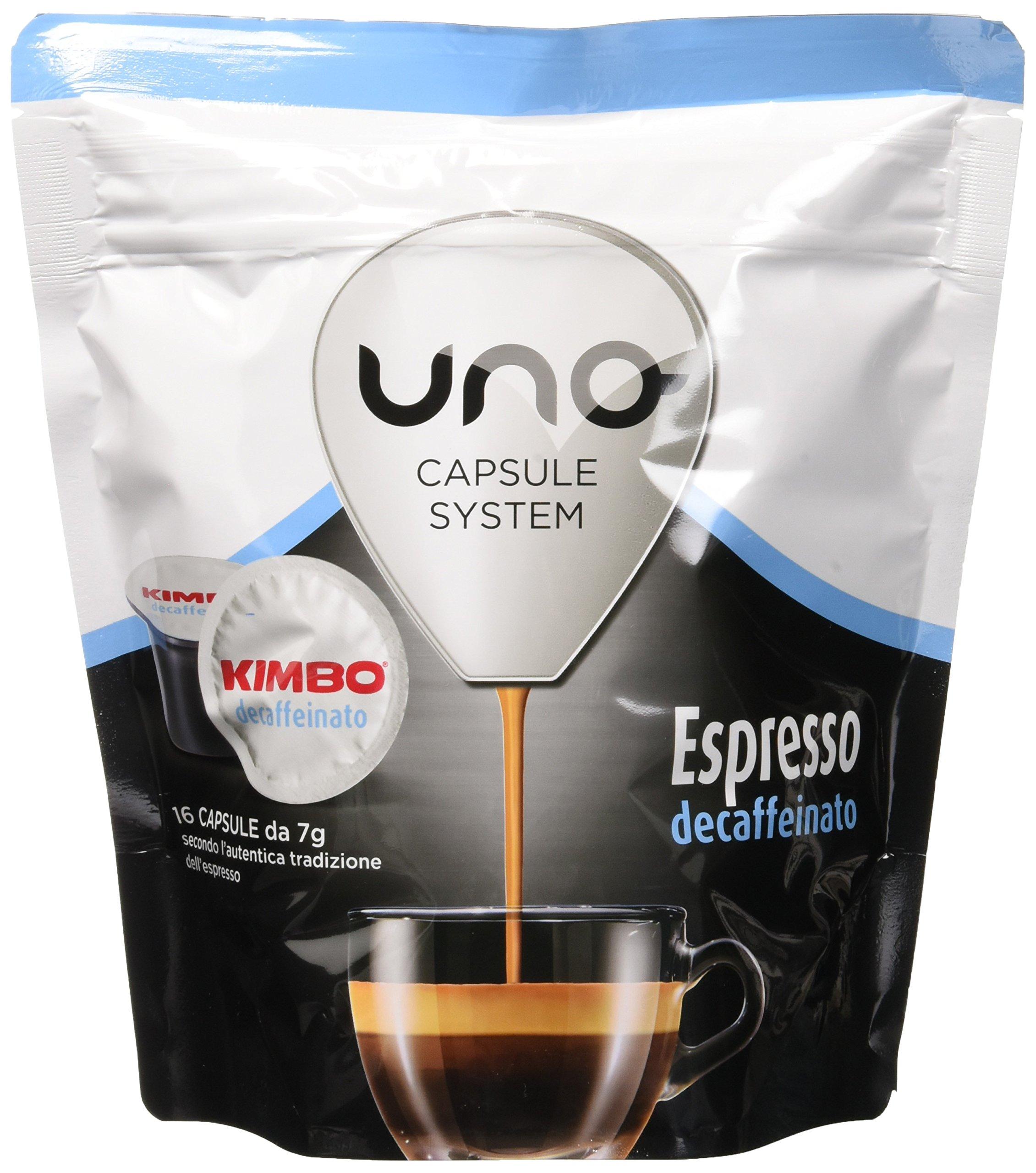 Kimbo Capsule di Caffè Espresso Decaffeinato (Deca), Kimbo UNO System, 6 Pacchi da 16 Capsule (Totale 96 Capsule) 1 spesavip