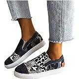 BIBOKAOKE Segelschuhe Damen Low Top Turnschuhe Mädchen Plateau Segeltuch Flache Schuhe Plattform Loafers Sneakers Sommerschuh
