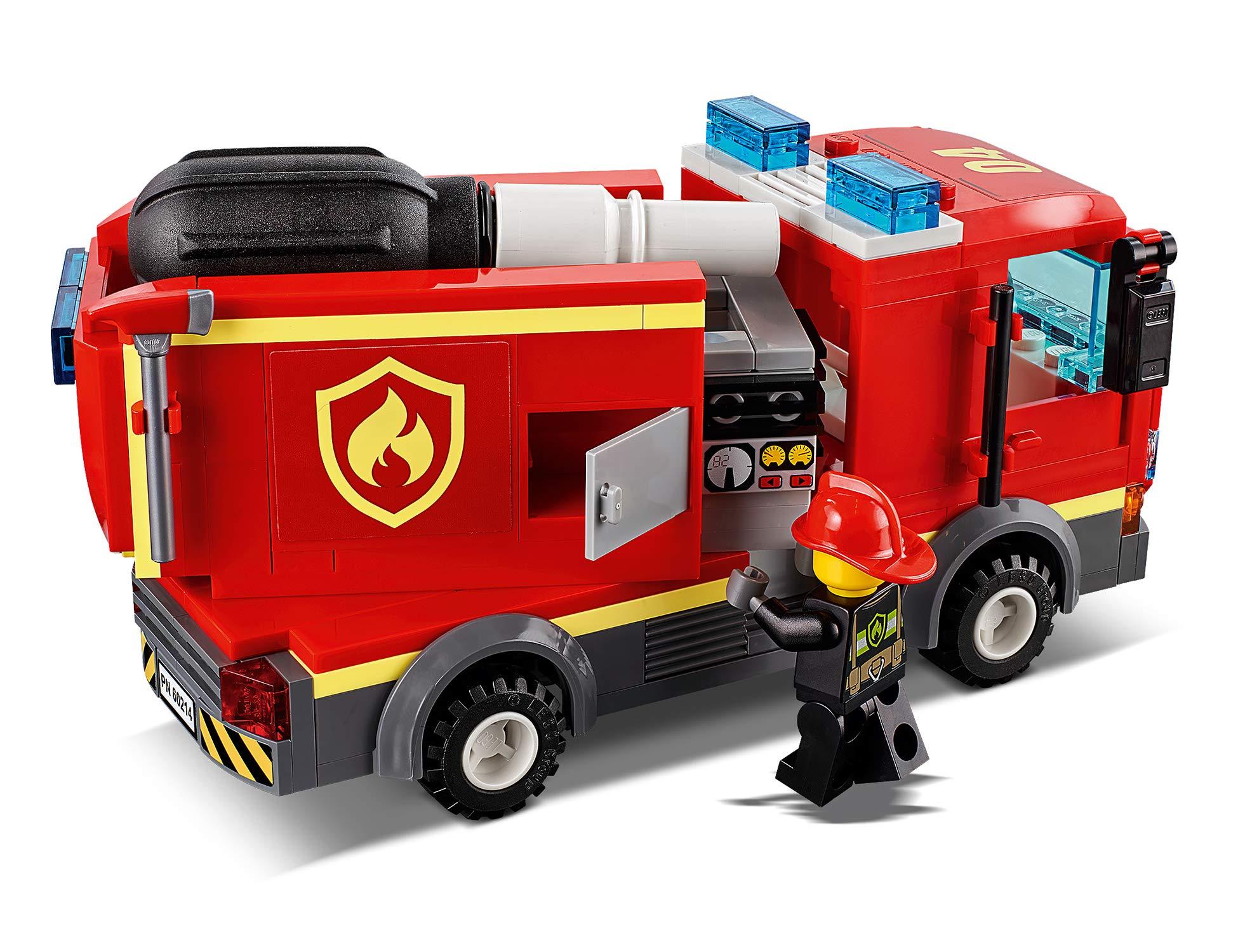 LEGO City Fire Fiamme al Burger Bar con 3 Minifigures, Una Autopompa dei Pompieri con Lancia Elementi Acqua, Set di… 5 spesavip