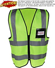 TheCoolio TCSVFYGXL_FBS High Visibility Fluorescent Yellow-Green Reflective Safety Vest, X Large
