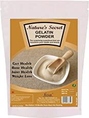 Nature's Secret Gelatine Powder |Size 450 Gm| 99% Protein | FSSAI Approved | Spl. for Making DIY Sweet & Jam, DIY Peel Off Mask, Blackheads & Whiteheads Remover | Effective for Joint Pain