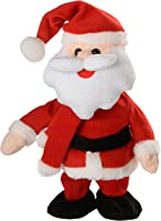 WeRChristmas Walking/Dancing and Singing Santa Christmas Decoration, 30 cm