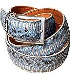 Cintura in vera pelle esotica di pitone/anaconda per abito elegante