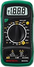 Mastech MAS830L Digital Pocket Multimeter, Colour May Vary (Yellow or Green)
