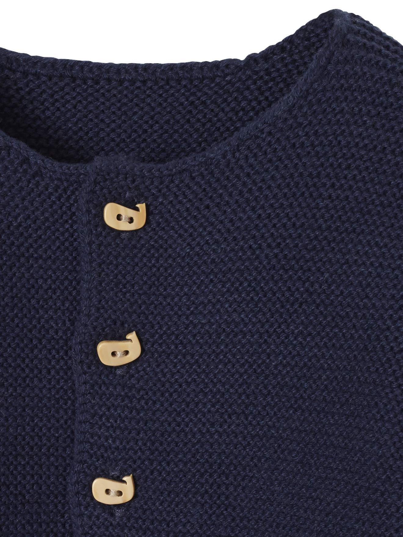 VERTBAUDET Chaqueta bebé recién nacido tricotada de punto bobo BLANCO CLARO LISO 3M-60CM 4