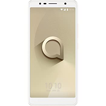 "Alcatel 3C – Smartphone Pantalla de 6"" HD (3G, cámara de 8MPx, 1GB de RAM, 16GB de ROM), dorado"