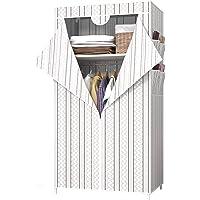 UDEAR Armoires Portables, Housse en Tissu Non Tissé avec 4 Poches latérales, Dressing de la Chambre, Facile à Assembler…