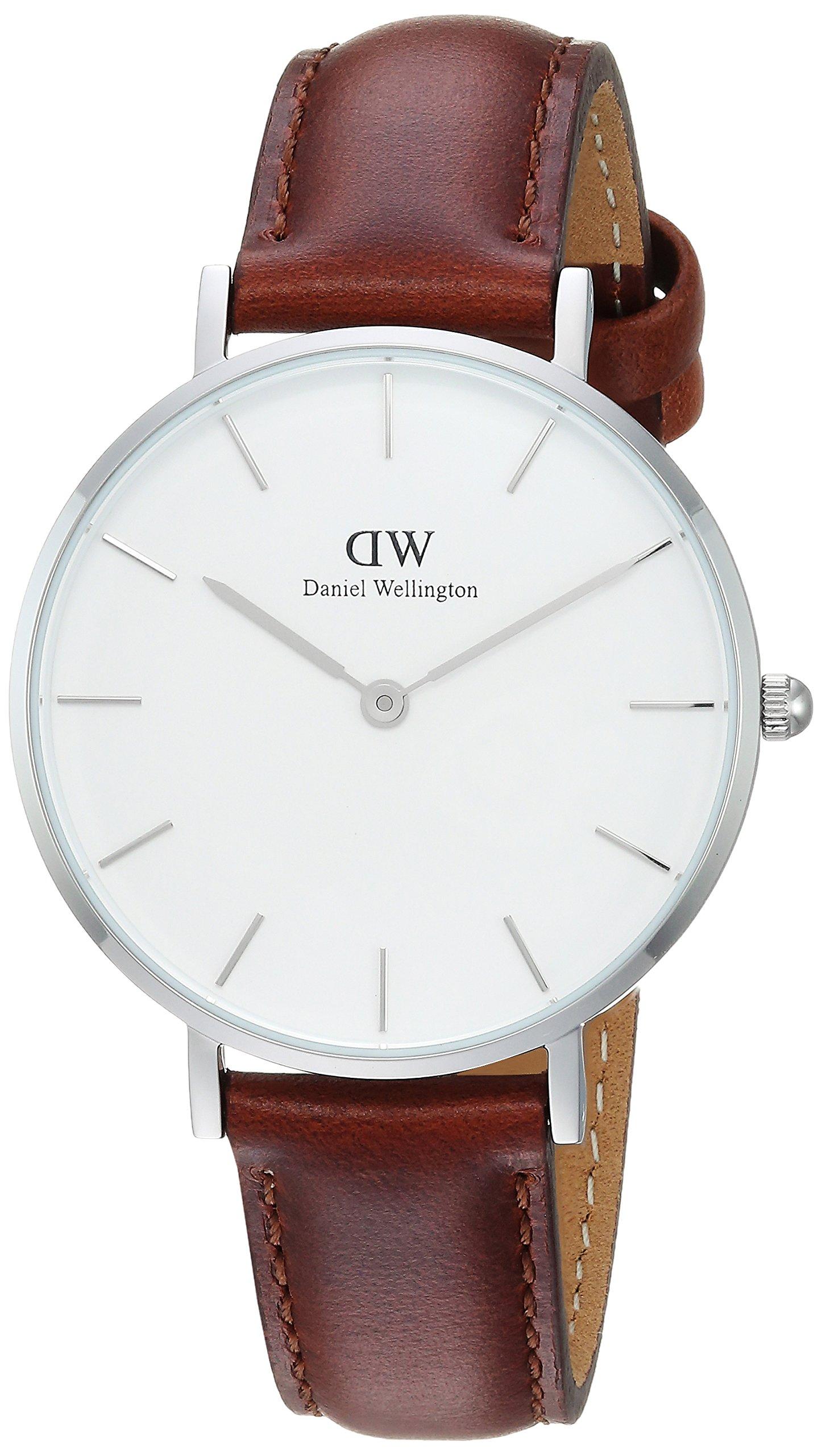 Daniel Wellington Reloj DW00100187 Plateado Cuero Marrón