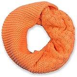 styleBREAKER sciarpa scaldacollo in maglia con mix di motivi, sciarpa ad anello in maglia fine a tinta unita, sciarpa inverna