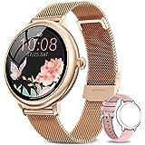 NAIXUES Smartwatch Mujer, Reloj Inteligente Impermeable 67, Monitor de Sueño y Caloría Pulsómetro, 7 Modos de Deportes, Notif