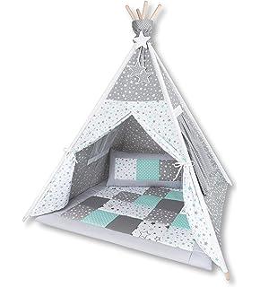 Amilian Tipi Spielzelt Zelt für Kinder T06 (Spielzelt mit  XtXFj