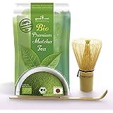 Japón Té Matcha Premio de Agricultura Biológica + Batidor de Bambú + Cuchara de Bambú
