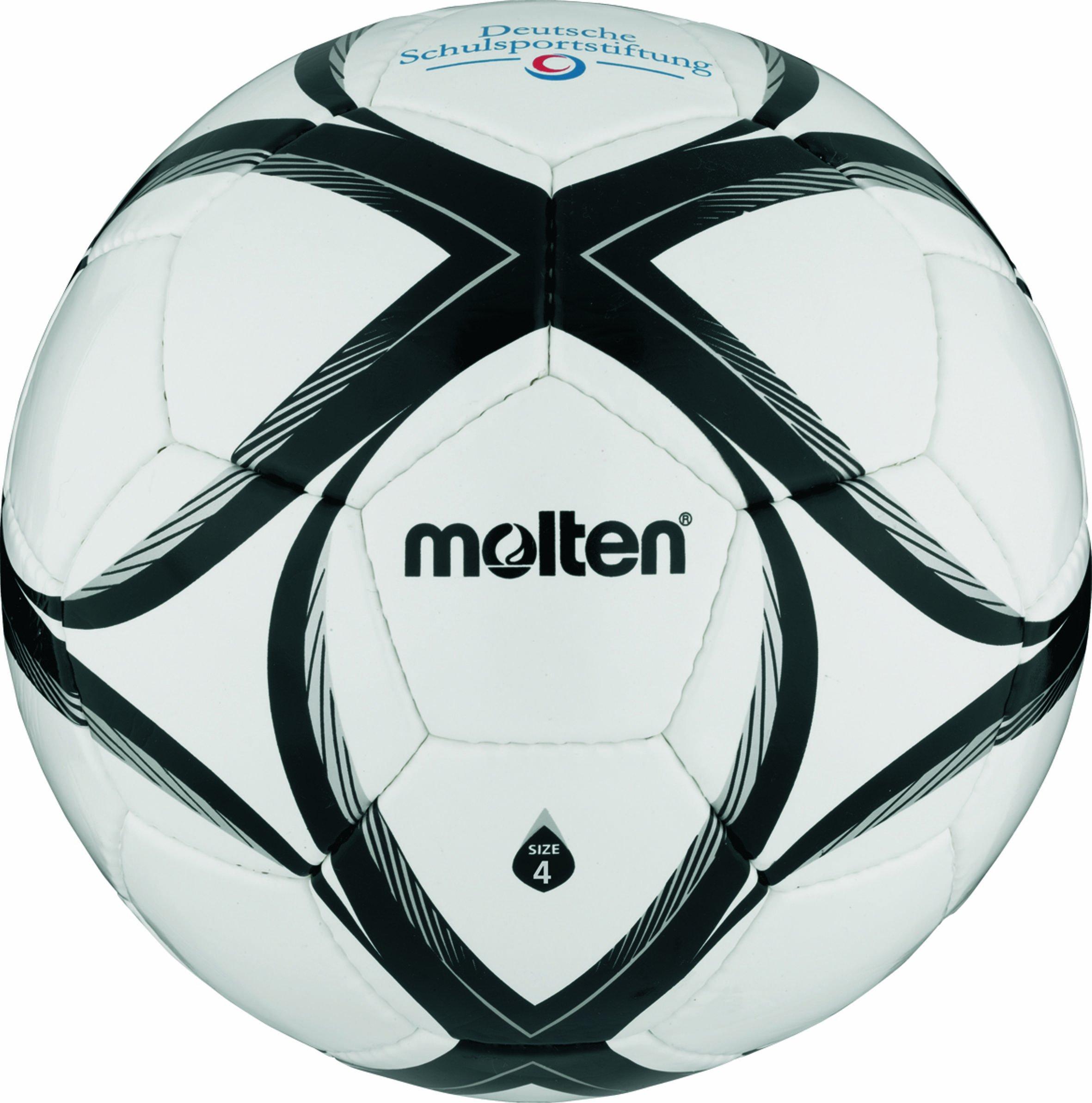 Molten - FXST4, Pallone da calcio, colore: Bianco/Nero/Arancione