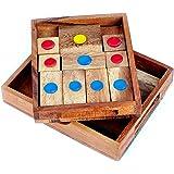 Logica Spiele Art. Flucht aus dem Gefängnis - Khun Phaen - Denkspiel aus Holz - 16 SPIELE IN 1 - Schiebespiel