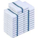 Utopia Towels - Lot de 24 torchons de Cuisine Coton, Serviettes de Cuisine - 38 x 64 cm, Bleu