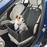 MuttStuff & Co Dog Car Seat - Booster Seats for Dogs - Waterproof Puppy Bed - Small Basket Carrier w/Flaps for Cover…
