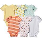 Amazon Essentials - 6-pack Short-sleeve Bodysuit, business-suit-dress-sets Bambino