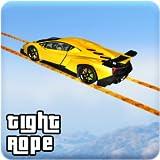 Longest Tightrope Mega Ramp Car Racing Stunts Game