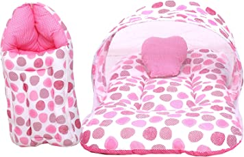 Baby Fly Baby Mattress with Mosquito Net & Sleeping Bag Combo(0-8 Months)